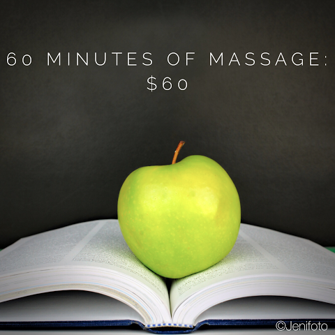 Massage Deal for Back to School: 60 Minutes for $60