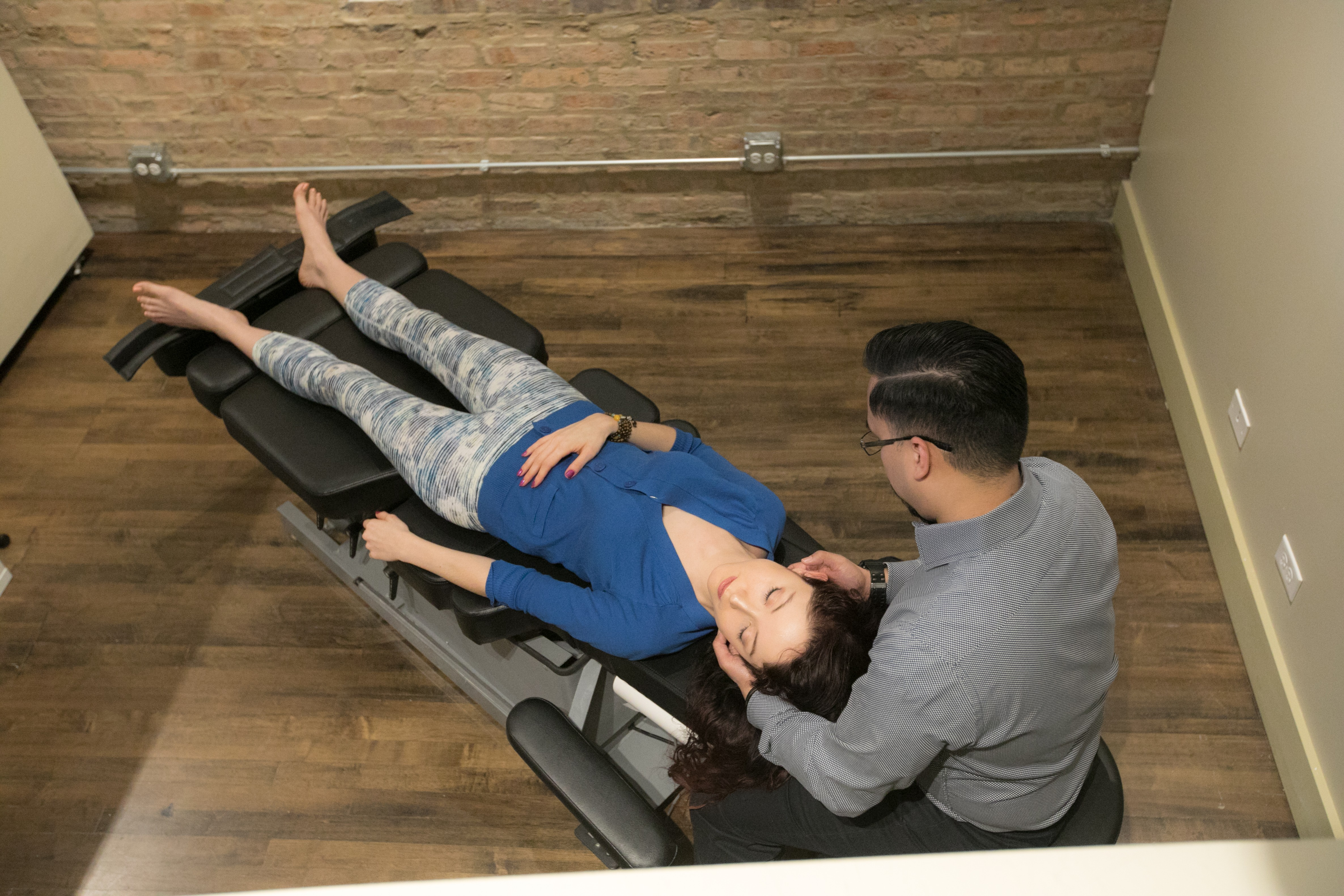 Chiropractic treatment on neck