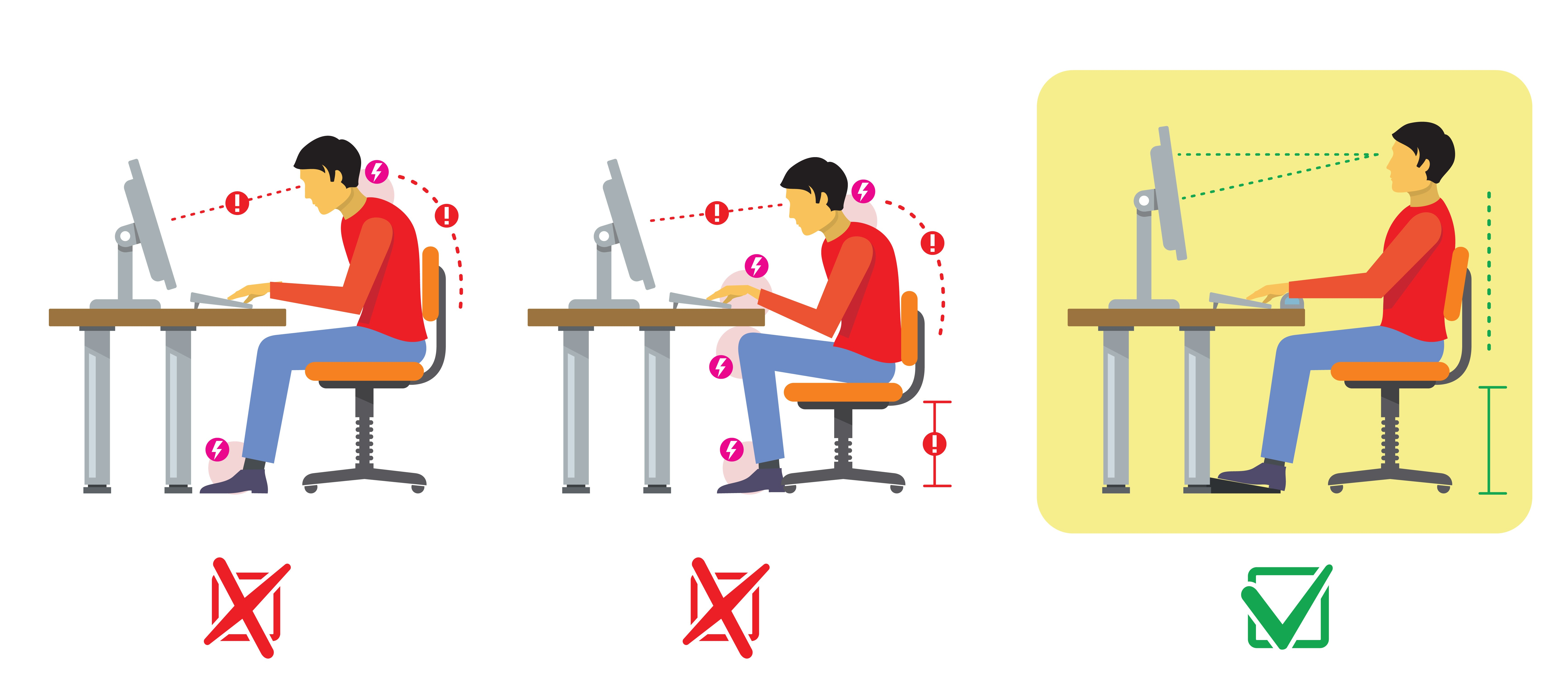 Illustration of man slumped over at computer desk