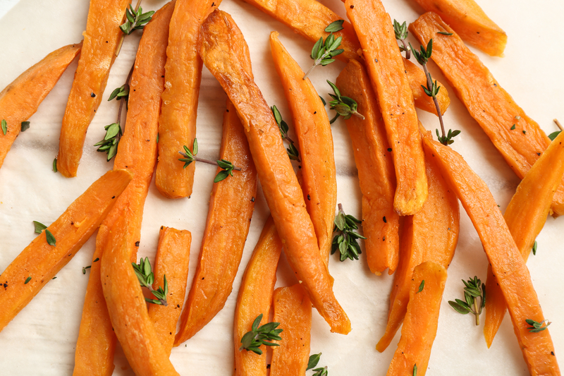 RECIPE | Garlic and Herb Grilled Sweet Potato Fries
